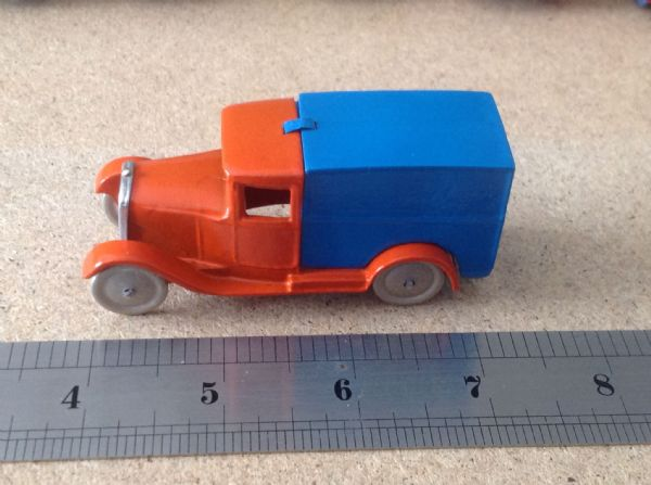 "Dinky Toys copy model 28 Series Type 1 Delivery Van "" Hornby Van Orange & Blue """
